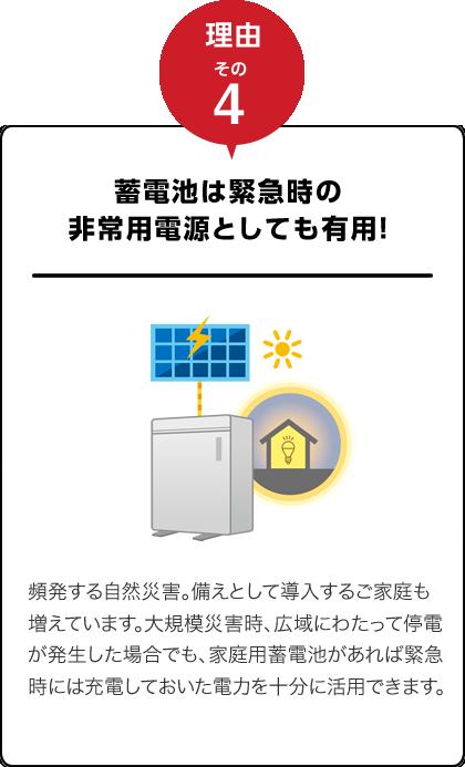 蓄電池は緊急時の非常用電源としても有用